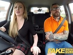 Fake Driving School Fake instructors hot boink with minx
