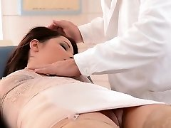 Horny doctor punishes super-cute babe Lana
