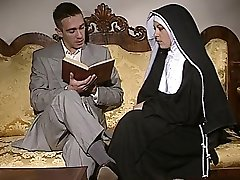Shy Nun gets her ass banged and face spermed