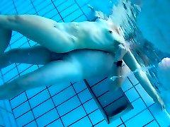 Underwater web cam at sauna pool