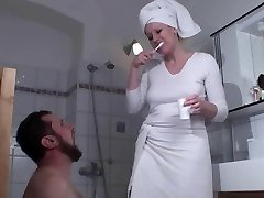 Female Domination Ladies humiliate slaves in bath