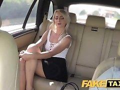 FakeTaxi Short skirt minx rides man rod in taxi