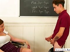 Charming and horn-rampant prof with juicy arse Sovereign Syre is pulverized on table