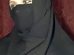 arabian hijab damsel shows herself on web cam