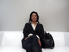 European milf on the couch 9