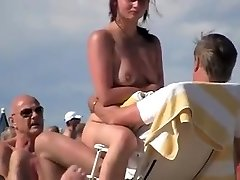 cute female gang blowjob at cap d agde