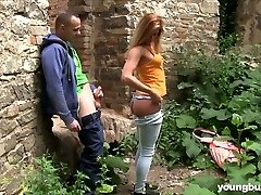 Guy romps naughty hottie with big boobs Chrissy Fox in the aged castle