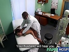FakeHospital Filthy milf sex addict gets fucked by the doc while her husband waits
