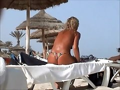 astounding beach tcheck wife tunesia topless