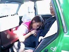 Horny Japanese girl Hime Orihara in Incredible Blowjob, Camper JAV clip