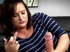 Mother Gives Son Harsh Handjob