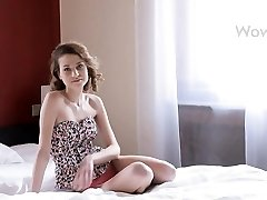 Beautiful girl shows her plasticity