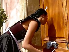 Obedient  maid is penalized by  ferocious mistress