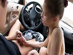 adorable mamada en mi coche