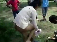 Boy Gets Caught Boning In A Park
