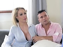Big tits wife inhale and cumshot