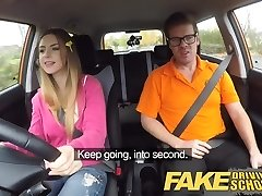 Fake Driving College Big tits Italian student fucks for check-up