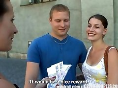 CZECH COUPLES Young Duo Takes Money for Public Foursome