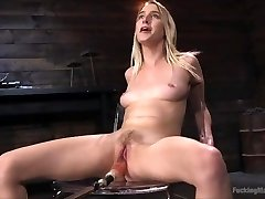 Cadence Lux gets machine fucked and squirts multiple times