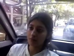 Indian Glamorous super-cute Fine baby boob feed and give oral-job to bf in car