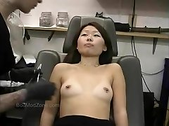 Cute Japanese Gets Her Nipples Pierced