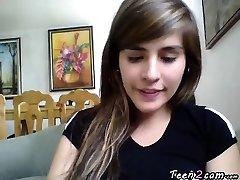 Teenage masturbates front the webcam