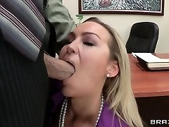 Abbey Brooks gets a hard-core lesson of good manners by her chief