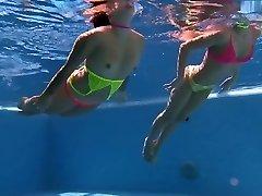 underwater couple bikini
