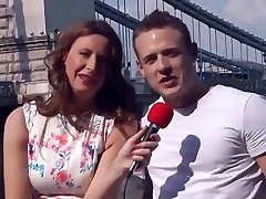 Female Reporter Interview a Young Guy they end up having Hookup