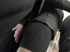 zorra exótica japonesa en el público más caliente, escena java fetiche