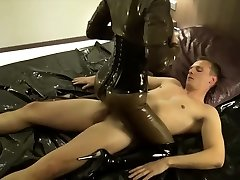 GERMAN Latex MISTRESS IN ROUGH ANAL FUCK AND Internal Cumshot IN ASS