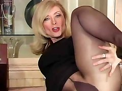 Mature nina hartley in pantyhose as never seen part Four thenylonchannel