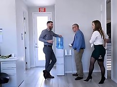 TeamSkeet - Busty and Hairy Office Babe Smashed By Partner
