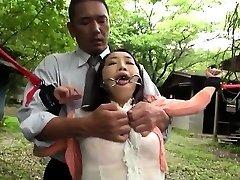 Japanese milf BDSM anal fisting and bukkake