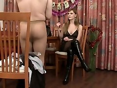 Rude Dominatrix Gives Birthday Pressent