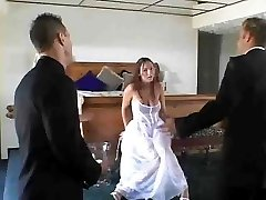 bride fucks three-way by jackass