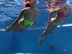underwater couple bikini