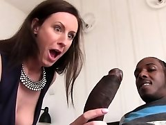 Lara Spandex Quenches Her Hunger For Black Rod