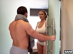 A very super hot scene in which Julia Ann and her lover have sex in the bathroom