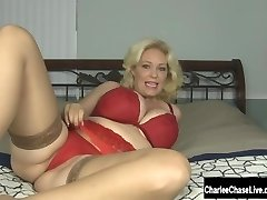 Toy Time for Blonde Big Tit Cougar Charlee Haunt