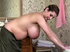 Natural tits knocked up sex with cumshot