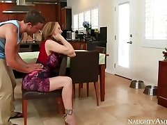 Amazing Step Mom Julia Ann loves toying