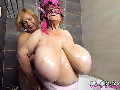 two grannies with huge tits