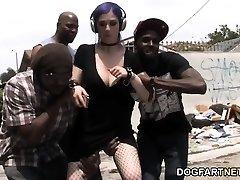 Larkin Love Interracial Gang-bang