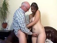 Chubby german girl humped by old man