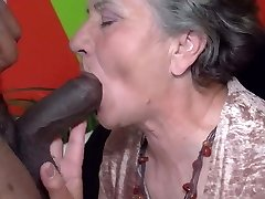 Granny attempts the chocolate stick