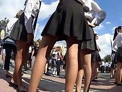 Spycam's paradise with schoolgirls