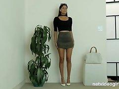 NetVideoGirls - Latina Mika has 1st 3 way