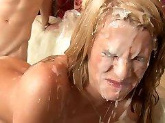 Sixsome orgie och cumshot dusch