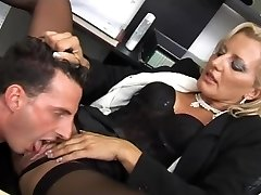Beautiful super-bitch fucked at her office
